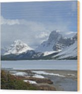 Canadian Rockies Bow Lake Wood Print