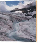 Canadian Rockies Glacier Wood Print