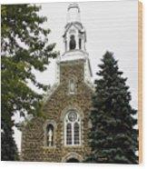 Canadian Rural Church Wood Print