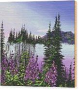 Canadian Sunrise Wood Print