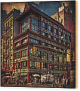 Canal And Center Streets New York City Wood Print
