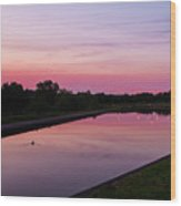 Canal At Sunset Wood Print