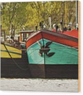 Canal Boats Wood Print