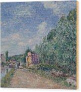 Canal Du Loing-chemin De Halage Wood Print