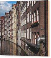 Canal Houses Wood Print