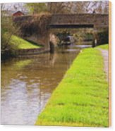Canal In Oxford England Wood Print