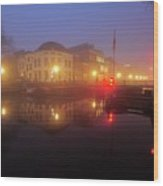 Canal Lock Weerdsluis In Utrecht In The Evening 9 Wood Print