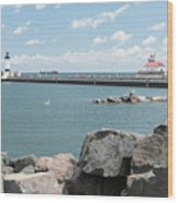 Canal Park In Duluth  Wood Print