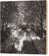 Canal Saint Martin 2 Wood Print