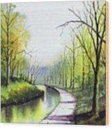 Canal Sowerby Bridge Wood Print