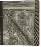 Canal Street Wood Print