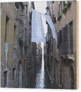 Canal. Venice Wood Print by Bernard Jaubert