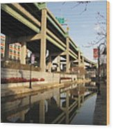 Richmond Canal Walk Through Shockoe Bottom Wood Print