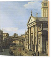 Canaletto Wood Print