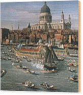 Canaletto: Thames, 18th C Wood Print by Granger