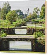 Canals And Bridges Wood Print