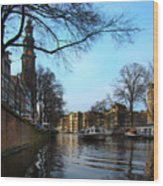 Canals Of Amsterdam IIi Wood Print