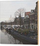Canals Of Jordaan Wood Print