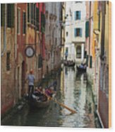 Canals Of Venice Italy Wood Print