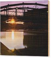 Canalside Dawn No 2 Wood Print