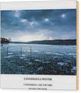 Canandaigua Lake Winter Wood Print