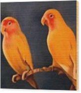 Canaries Wood Print