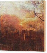 Canary Wharf Dawn Wood Print