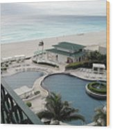 Cancun Beach Resort Wood Print