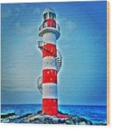 Cancun Lighthouse  Wood Print