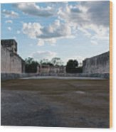 Cancun Mexico - Chichen Itza - Great Ball Court - Open End Wood Print