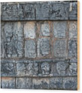 Cancun Mexico - Chichen Itza - Skull Platform Wood Print