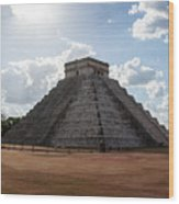 Cancun Mexico - Chichen Itza - Temple Of Kukulcan-el Castillo Pyramid 1 Wood Print