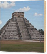 Cancun Mexico - Chichen Itza - Temple Of Kukulcan-el Castillo Pyramid 2 Wood Print