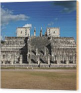 Cancun Mexico - Chichen Itza - Temple Of The Warriors Wood Print