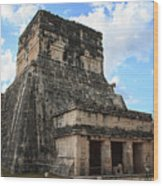 Cancun Mexico - Chichen Itza - Temples Of The Jaguar On The Great Ball Court Wood Print