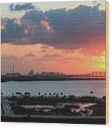 Cancun Mexico - Sunrise Over Cancun Wood Print