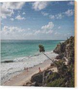 Cancun Mexico - Tulum Ruins - Caribbean Beach Wood Print