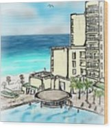 Cancun Royal Sands Wood Print