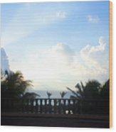 Cancun Sunrise Wood Print
