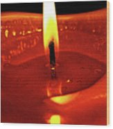 Candle Flame Wood Print
