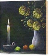 Candle Light Wood Print