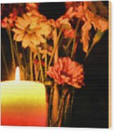 Candle Lit Wood Print