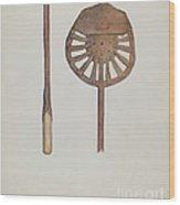 Candle Maker Wood Print