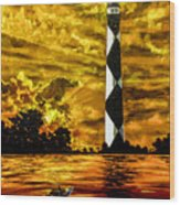 Candle On The Water Wood Print