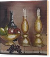 Candle Sticks Wood Print