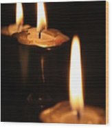 Candlelight Wood Print