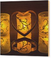 Candlelight Love Wood Print