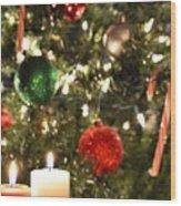 Candles For Christmas 2 Wood Print