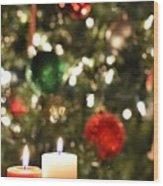Candles For Christmas 3 Wood Print