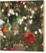 Candles For Christmas 4 Wood Print